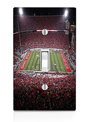 College Football Stadiums Light Switch Plate by Compass Litho (Image #1)