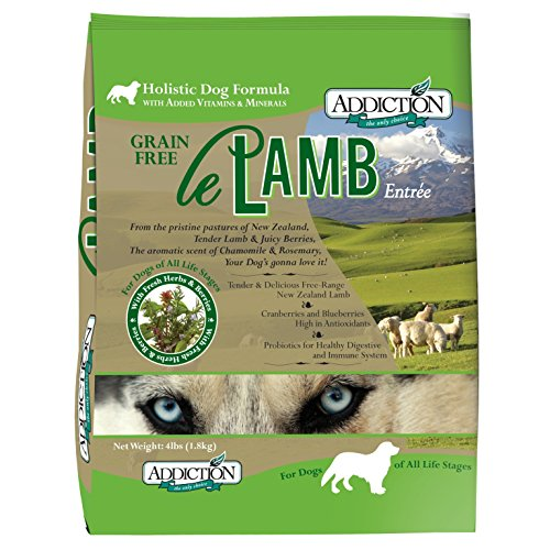 Addiction Le Lamb Grain Free Dry Dog Food, 4 lb.