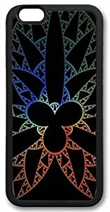 Zenzzle Stylish Rubber Case for iPhone 6 Plus (TPU Black) - Shape Pattern Light Multicolored