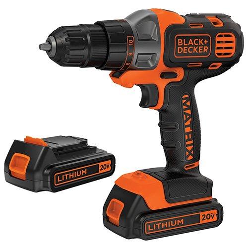Black & Decker BDCDMT120C-2 20V MAX Lithium Drill/Driver with 2 Batteries