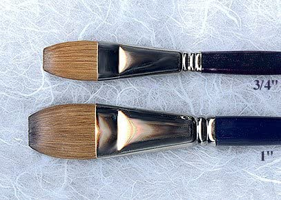Escoda Kolinsky Sable Watercolor Wash Brush 3//4 inch Flat