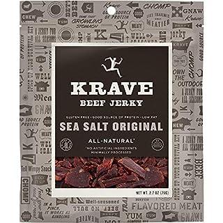 KRAVE Jerky Gourmet Beef Cuts, Original Sea Salt, 2.7 Ounce (Pack of 8)