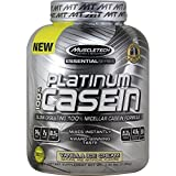MuscleTech Platinum 100% Casein, Slow-Digesting 100% Milcellar Casein Formula, Vanilla Ice Cream, 3.66 lbs (1.66kg)