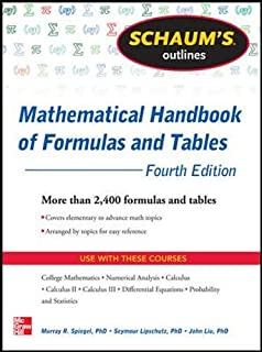 Mathematical methods in the physical sciences mary l boas schaums outline of mathematical handbook of formulas and tables 4th edition 2400 formulas fandeluxe Images