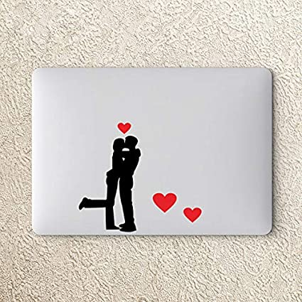 "Locker #54 etc LOVERS KISS with Red Hearts Sticker Set 5.75/"" x 3.5/"" Laptop"