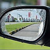 Rexa •Set of 2 Car Rear-View Mirror Film Anti-Fog Membrane Waterproof   Rainproof   Car Mirror   Window   Protective   Dimming Film Car-Styling