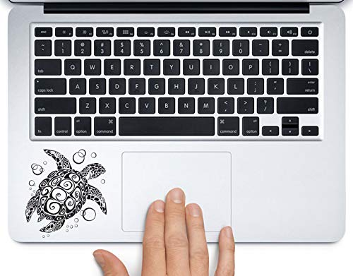 Tribal Turtle Swimming Printed Trackpad Clear Vinyl Decal Sticker Compatible with Apple MacBook Pro Air 11
