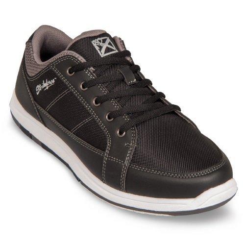 KR Strikeforce Men's Spartan Bowling Shoes, Black/Charcoal, 13 by KR
