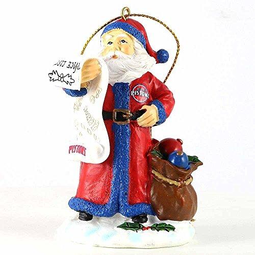Detroit Pistons Santa Christmas Tree Ornament,