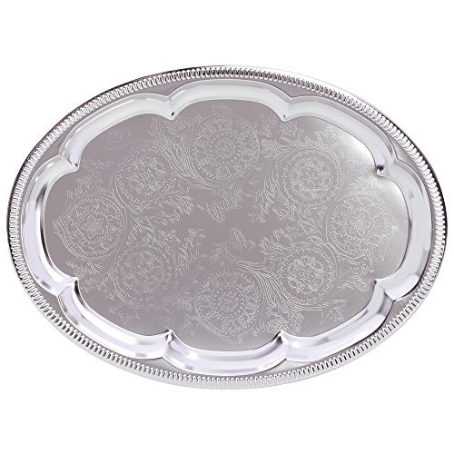 Oval Silver Plated Serving Tray - Sterlingcraft KTT5 Serving Tray
