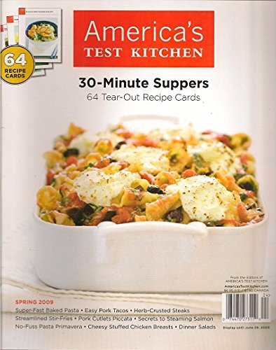 America S Test Kitchen 30 Minute Suppers 64 Tear Out Recipe