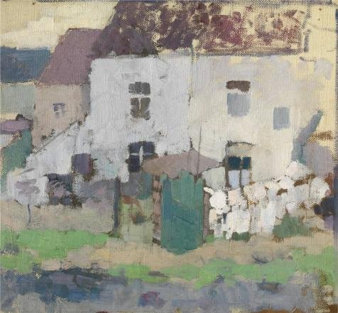 The High Quality Polyster Canvas Of Oil Painting 'Rik Wouters - White Facades And Garden In Bosvoorde' ,size: 30x32 Inch / 76x82 Cm ,this Vivid Art Decorative Prints On Canvas Is Fit For Kitchen Decoration And Home Decor And Gifts (Knife Party Halloween Intro)
