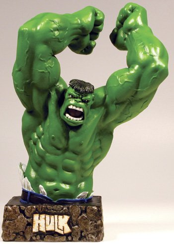(Dynamico Forces Marvel Comics Limited Edition Green Hulk Variant Resin Bust Limited to 1963)