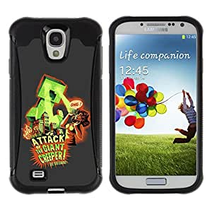 ZAKO Cases / Samsung Galaxy S4 I9500 / Funny Vintage Poster / Robusto Prueba de choques Caso Billetera cubierta Shell Armor Funda Case Cover Slim Armor