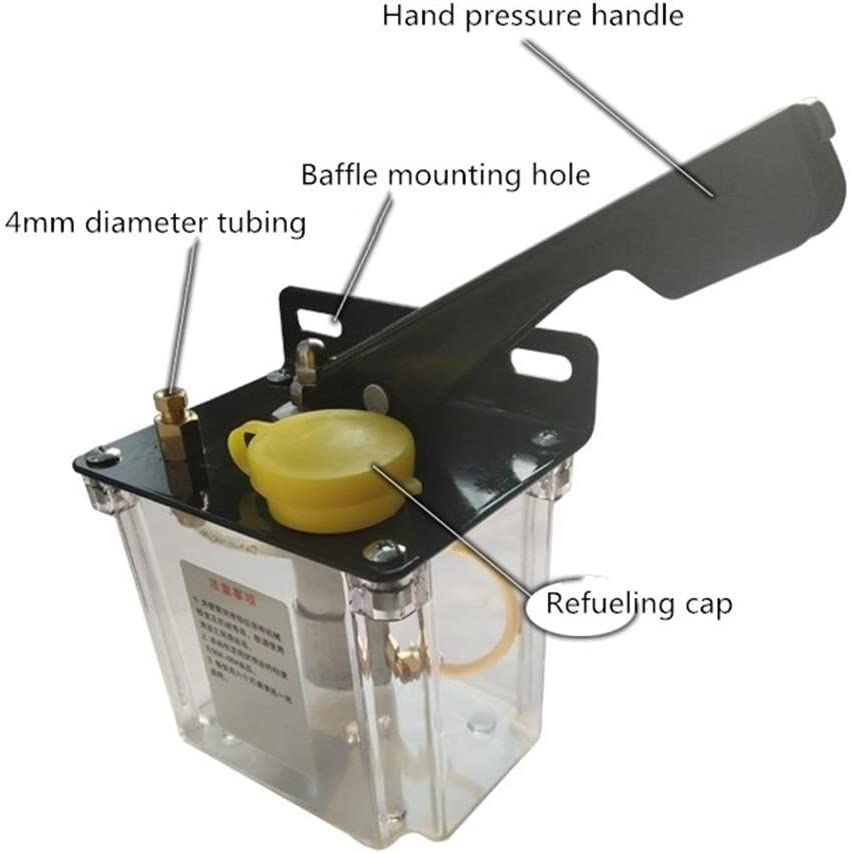 KEHUASHINA Lubricaci/ón manual Bomba manual de lubricaci/ón 0.5 Litros 0.5L Nuevo