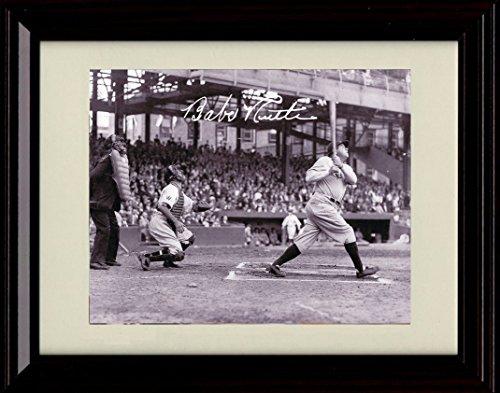 Framed Babe Ruth (Framed Babe Ruth Autograph Replica Print - Called Shot HR!)