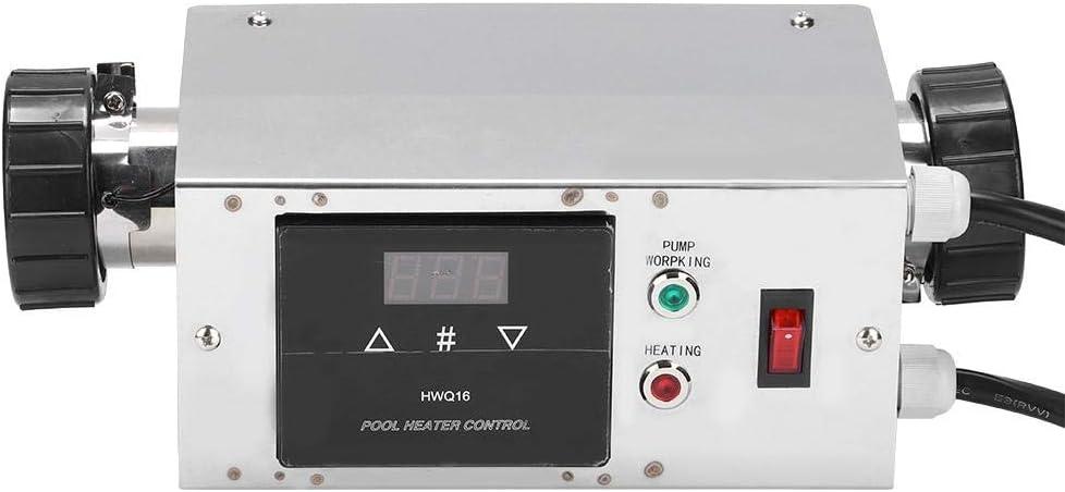 Cuque Termostato de Piscina, 2KW Impermeable Calentador de Piscina Controlador de Temperatura Termostato Digital para Piscina SPA(EU)