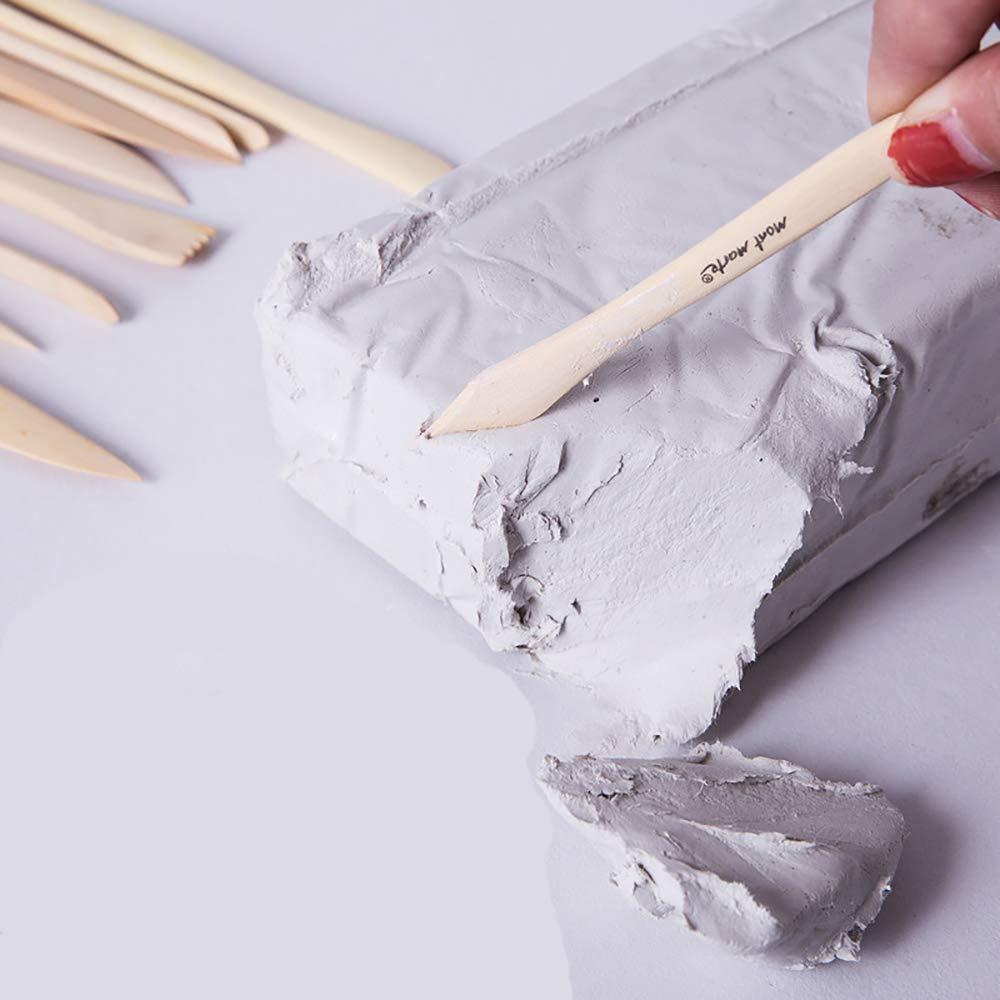 Arcilla de modelado de endurecimiento de aire blanco 500 g Adecuado para escultores y modeladores de todos los niveles de habilidad. Se seca en aproximadamente 24 horas