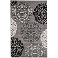 SummitS45 New Grey Black Transitional Area Rug Modern Abstract Rug  (22 INCH X 7 FOOT HALLWAY RUNNER)