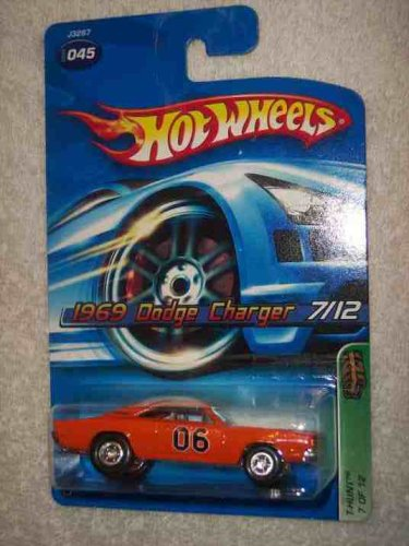 Hot Wheels 2006 Treasure Hunt #7 1969 Dodge Charger Limited Edition 1:64 Scale Collectible Die Cast Car