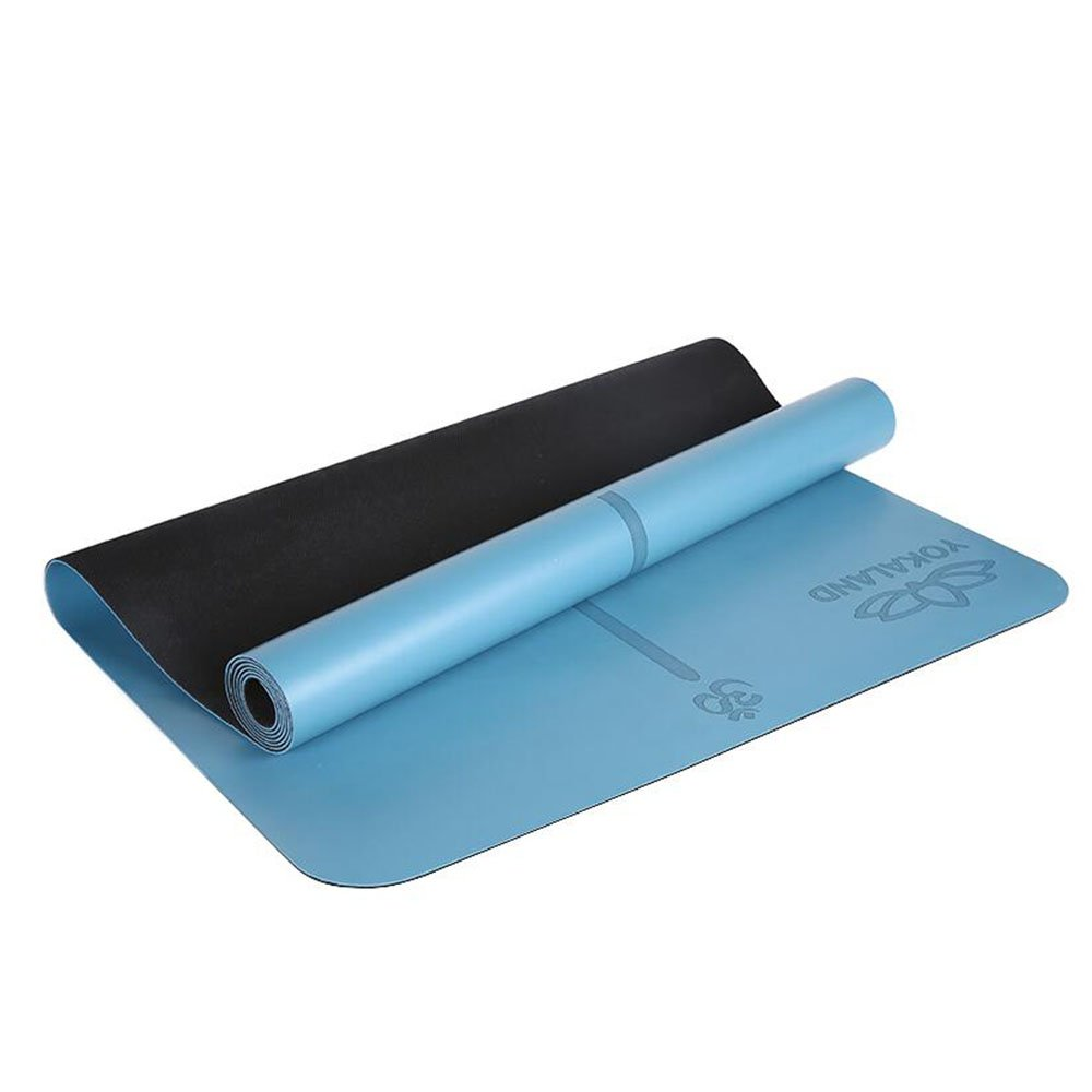 Yoga mat Picnic mat- Non-Slip Rubber Portable Fitness Position Balance Mat, Three Colors are Available (Color : Blue)