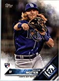 2016 Topps Update #US151 Taylor Motter Tampa Bay Rays Baseball Rookie Card in Protective Screwdown Display Case