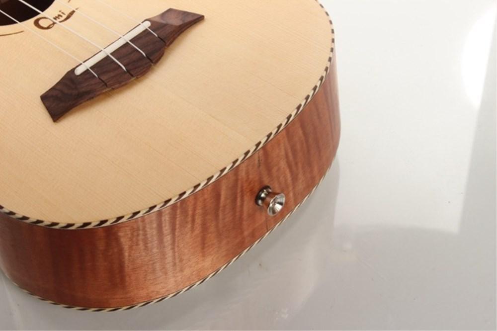 xie @ four-stringed de 23 pulgadas Guitarra Tiger grano aoguemann chapa de abeto de madera ukelele ukelele: Amazon.es: Instrumentos musicales
