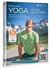 Rodney Yee's Yoga for Energy and Stress Relief, filmed in picturesque Western Colorado, includes (3) 20-minute restorative yoga practices designed to calm the mind and energize the body. Perfect for anyone who wants to reduce stress and refoc...