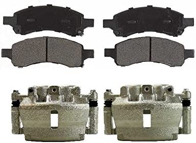 Auto Shack SCD1169BC3136 Front Disc Brake Caliper and Ceramic Brake Pad Bundle