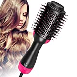BDENINKK One Step Hair Dryer, Multifunctional Hot Air Brush 3-in-1 Negative Ions Hair Straightener Professional Curly Hair Comb for All Hair Types,110/220V