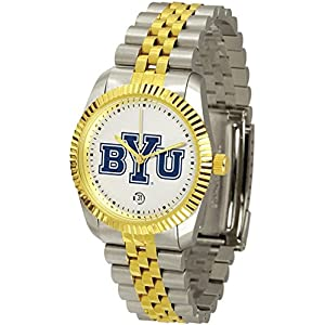BYU Brigham Young University Men's Two Tone Gold Dress Watch