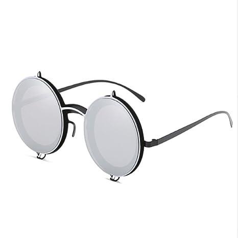 WANGKEAI Occhiali Da Sole Rotondi Retrò Occhiali Da Sole