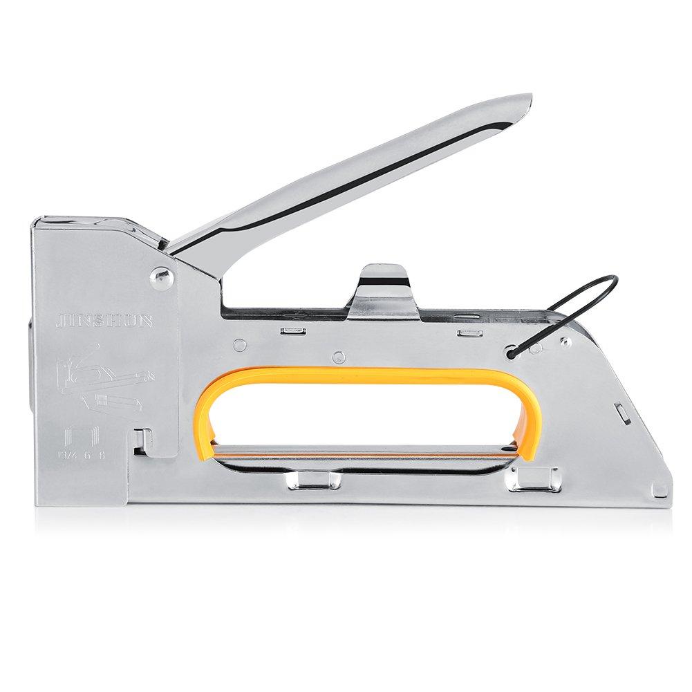 Zerodis Stainless Steel Staple Gun Furniture Stapler to Hold 1008F Staples for Home Office