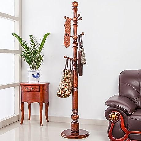 European Solid Wood Coat Rack Hanger Bedroom Landing Fashion Racks Hanger Hall