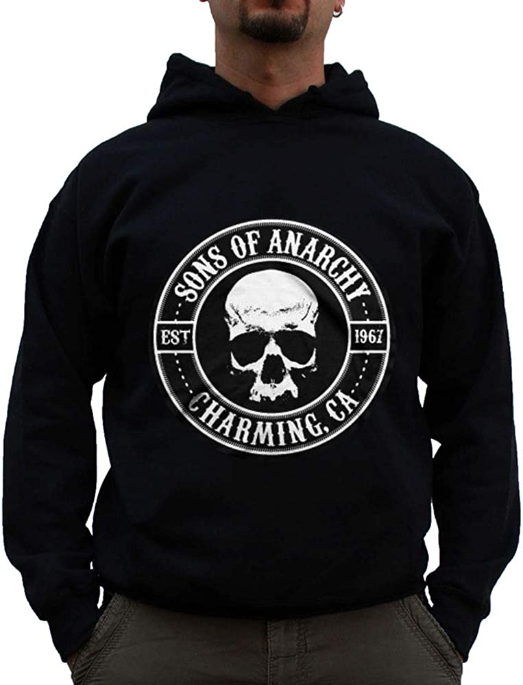 Black Sons of Anarchy Officially Licensed Seal Big /& Tall Hoodie