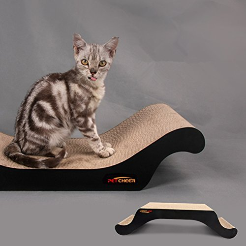 delicate PetCheer Premium Cat Scratcher Scratching and Resting Pads Toy for Cats with Catnip