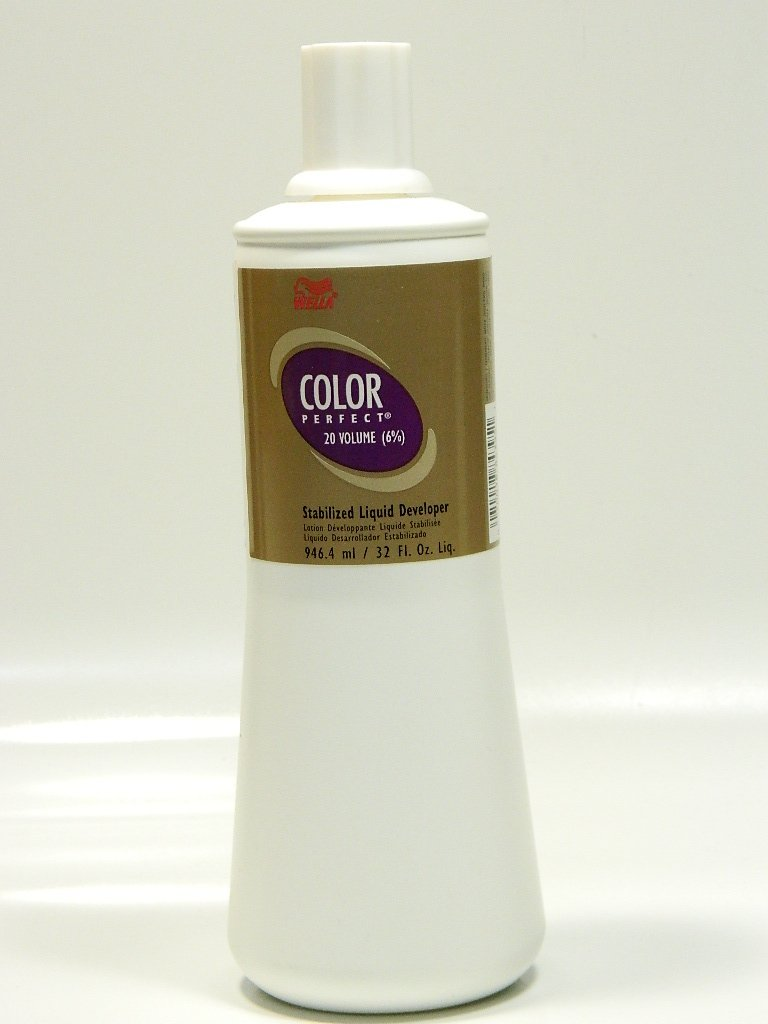 Wella Perfect Hair Color Stabilized Liquid Developer, 32 Ounce by Wella Mainspring America Inc. DBA Direct Cosmetics