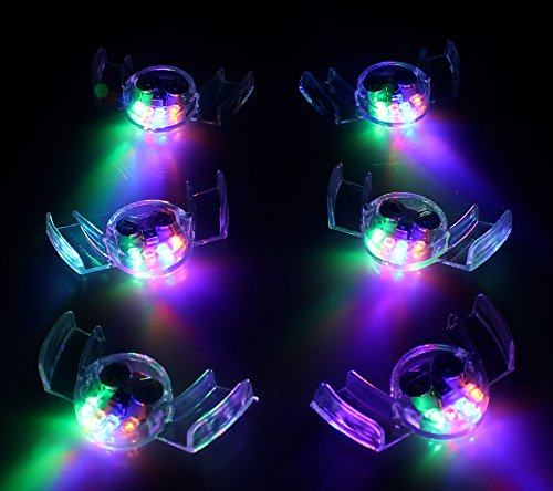 Light Up Mouthpiece - 12 Pack of Colorful Flashing LED