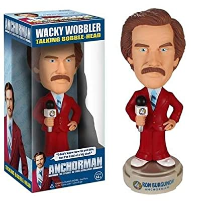 Funko Anchorman: Talking Ron Burgundy Wacky Wobbler: Funko Wacky Wobbler: Toys & Games