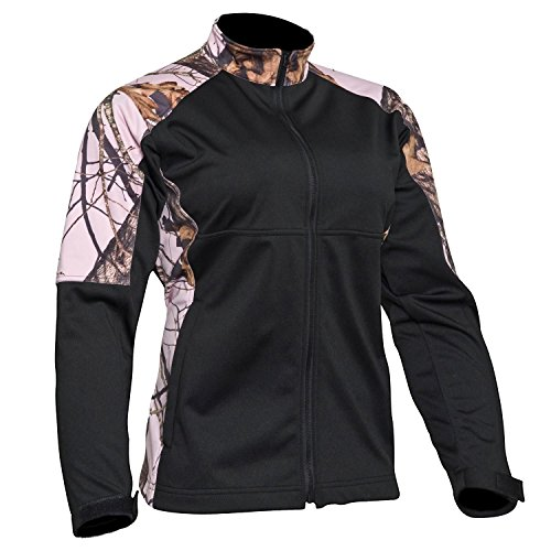 Womens Mossy Oak Pink Softshell Windproof Jacket (XL)