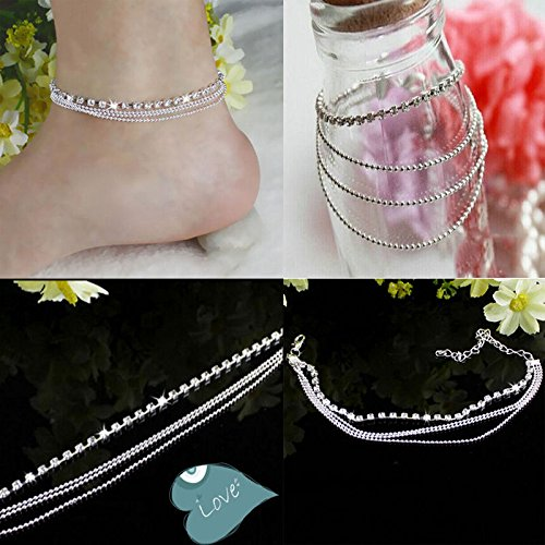 New fashion Jewelry Foot Silver Bead Chain Anklet Ankle Bracelet Barefoot Sandal Beach,hobo - Sunglasses Chanel Price