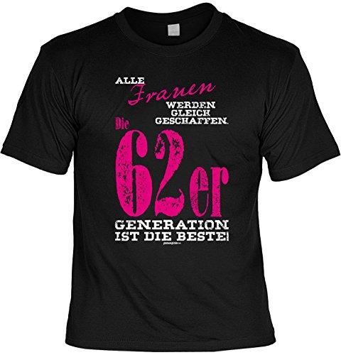 T-Shirt - Frauen - Die 62er Generation ist die Beste - lustiges Sprüche Shirt als Geschenk zum 55. Geburtstag