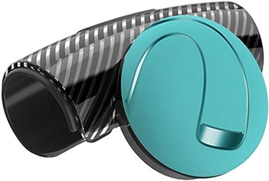 Tininna Universal Lenkhilfe Lenkradknopf Für Autos Silikon Lenkrad Drehknopf Spinner Griff Knopf Booster Kugel 360 Drehen Blau Auto