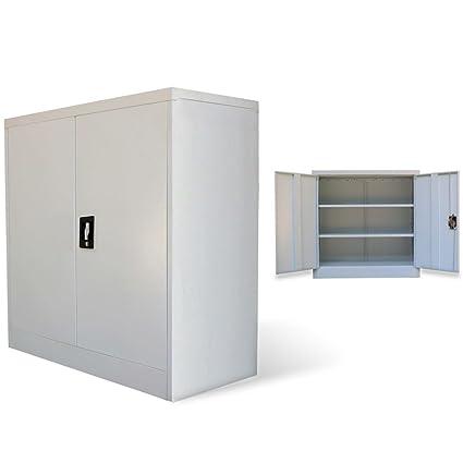 Amazon Vidaxl 2 Door Office Cabinet Tool Locker File Storage
