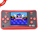 Retro Handheld Games for Kids with Built in 168 Classic Video Games Device Mini Arcade Gaming Machines Portable Electronic Consoles Player 16 Bit 2. 5'' Screen (Red)
