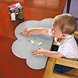 HANBUN Kids Silicone Cloud Placemat Dinnerware Table Mat Washable Portable Place Mat CA-HK040 (grey)