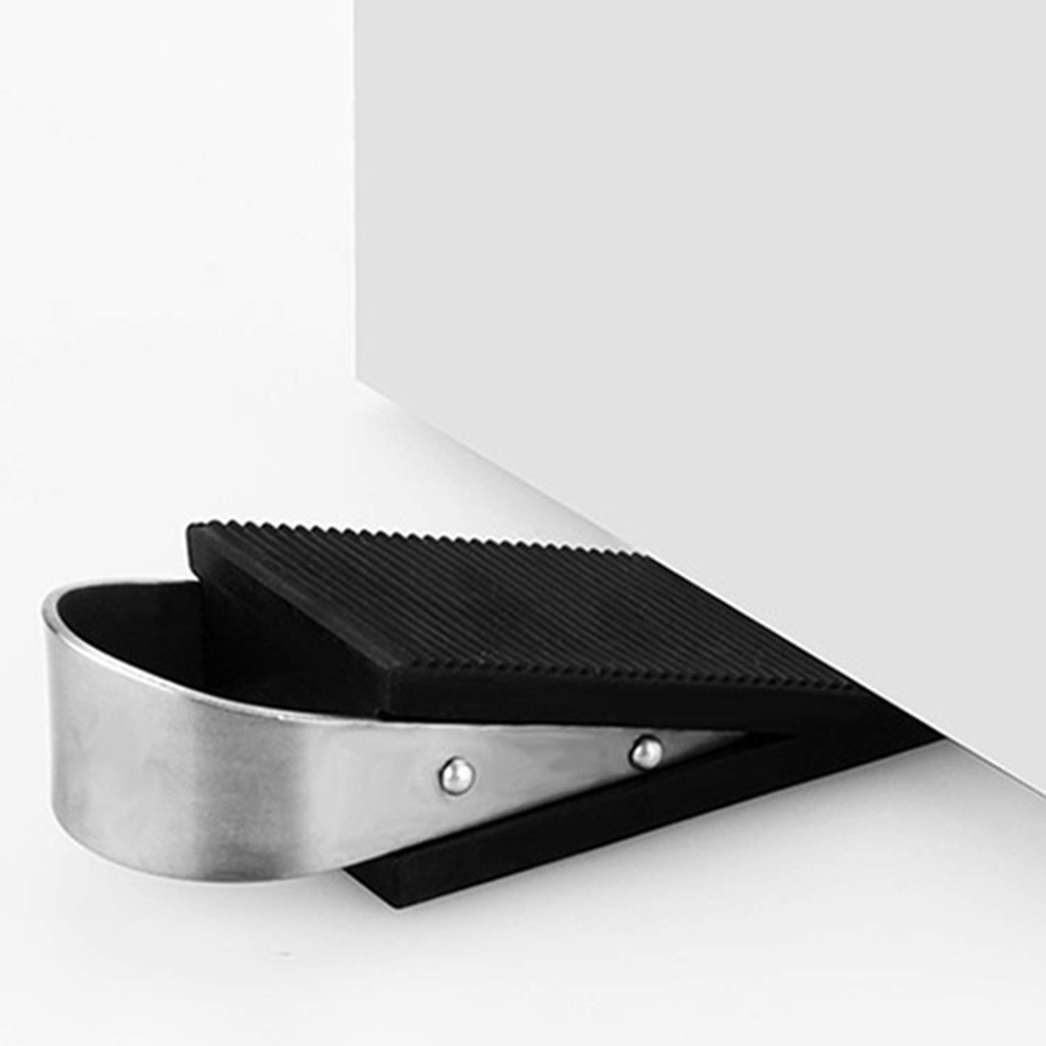 Heavy Duty Wedge Rubber Stopper That Wont Scratch Floor or Door 2 Pack Premium Door Stopper Works On All Surfaces,Anti-Slip Non-Scratching for Home Office School and Garden