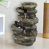 "Valentinyii 11"" H Rock Fountain w/LED Lights"