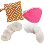 Breast Pads Washable, Reusable Nursing / Breastfeeding Pads 8 Pack with Waterproof Carry Pouch & Dry Bag for Nursing Mothers