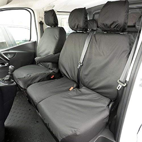 Black UK Custom Covers SC188B-SC189B Tailored Heavy Duty Waterproof Front /& Rear Seat Covers